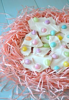 Easter Egg Bark  {just 2 ingredients!}