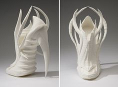 Janina Alleyne created her Exoskeleton collection with a 3-D printer.
