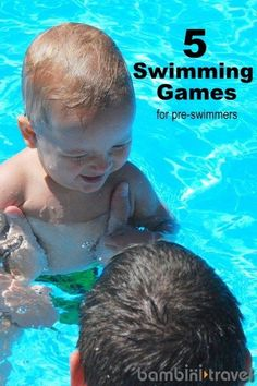 5 Swimming Games for Babies and Toddlers – Bambini Travel - Busy Bees - Baby Baby Swimming Classes, Toddler Swimming Lessons, Swimming Pool Games, Swim Lessons, Pool Fun, Swimming For Babies, Swimming Instructor, Swimming Aids, Competitive Swimming