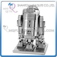 Mini Qute Piece Fun 3D Star wars Xwing ATAT Millennium Falcon BB8 Vader Tie Fighter Metal Puzzle adult models educational toy