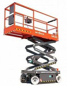 Powered Access Equipment Hire in #Gildersome in Leeds. Pin shows the image of a #Skyjack Scissor Lift Platform machine.