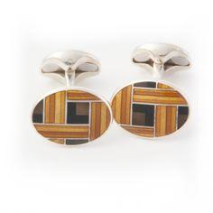 Edward Sexton enamel mid century geometric design cufflink >> shop.edwardsexton.co.uk