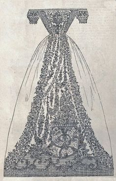Engraving, Babies Gown of Irish Lace, 1851