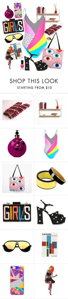 """""""Quid Pro Quo"""" by chelsofly ❤ liked on Polyvore featuring Valentino, Topshop, Marni, Yves Saint Laurent, Hemingway, Casetify, Deborah Lippmann, 80s and eighties"""