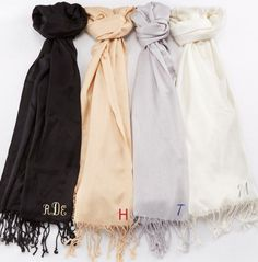 This pretty black pashmina shawl makes the perfect gift for any bridesmaid!