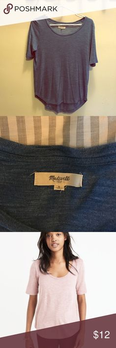 Madewell anthem T anthem scoop elbow-sleeve tee. Blue. Small. Worn a handful of times. EUC. Madewell Tops Tees - Short Sleeve