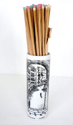 Vintage Long Matches and Match Stick Holder 1960s by oldandnew8, $22.00