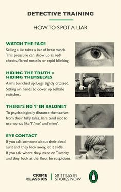 How to tell if someone is lying pic.twitter.com/D8PKeMNlHD