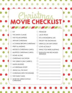 DIY your photo charms, 100% compatible with Pandora bracelets. Make your gifts special. Christmas Movie Checklist