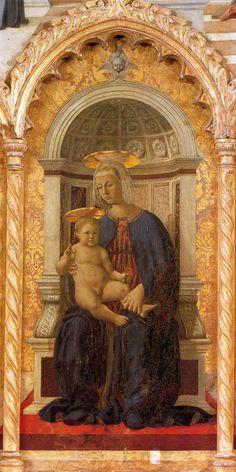 """artist-francesca: """" Madonna and Child by Piero della Francesca Size: 65x141 cm"""""""