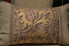 Fortuny fabric pillow offered by Janet Brown Interiors.