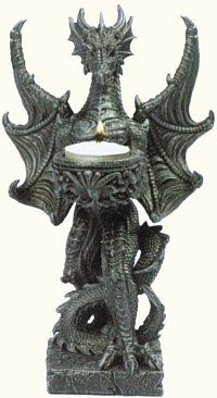 Guardian Dragon Statue Candle Holder