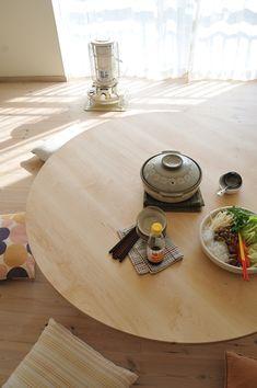 メープル丸ローテーブル 直径140cm / カグオカ