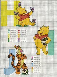Projecto Cross Stich: Winnie The Pooh