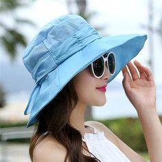 #NewChic - #NewChic Women Face Neck Sunscreen Wide Brim Beach Hat Mesh Breathable Outdoor Gardening Caps - AdoreWe.com