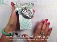 STAMPIN' GALS GONE WILD with Connie & Josee - Christmas Gift Box VIDEO