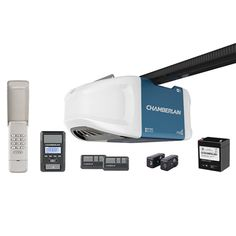 Save On Garage Door Replacement Batteies Today - $15.89 and Free Same Day Shipping! 1-1/4 HPS Wi-Fi Garage Door Opener with Battery Backup and Ultra-Quiet Operation detail