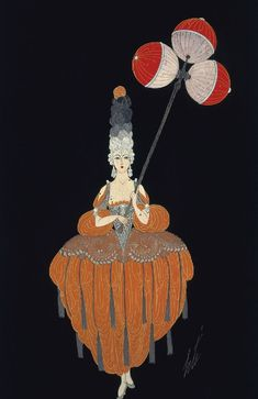 noonesnemesis: 1919 Erte (Russian-born/French [Romain de Tirtoff], 1892-1990) ~ The Lantern Bearer