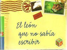 El león no sabe escribir, pero eso no le importa, ya que puede rugir y enseñar sus colmillos y no necesita más. Pero un día conoce a una leona muy guapa leyendo un libro. A una dama así no se le puede besar sin más. Hay que escribirle una carta de amor. Así, pues, el león va pidiendo que escriban por él al mono, al hipopótamo, al escarabajo pelotero, al buitre...