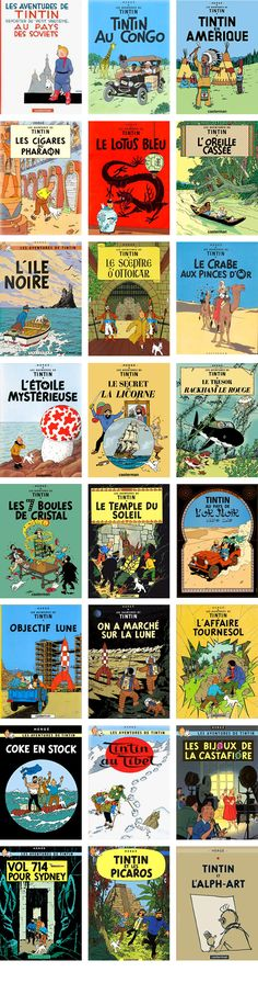 Tintin Adventures book covers: I'm finally getting to read all of Tintin's adventures made by fantastic artist Hergé. I'll pin the covers of each after I read them and write a review about it. So let's start!!!