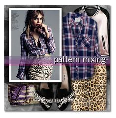 pattern mixing No.2 by lavida on Polyvore featuring polyvore fashion style Rails Yves Saint Laurent J.Reneé clothing contest patternmixing