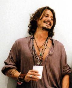 Photo of When Johnny Depp Smiles for fans of Johnny Depp. johnny depp photosoot with keith richards Hippie Men, Hippie Chic, Estilo Hippie, Johnny Depp, Here's Johnny, Beautiful Men, Beautiful People, Hello Gorgeous, Look Boho Chic