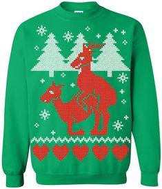 Funny Christmas Reindeer Jumper
