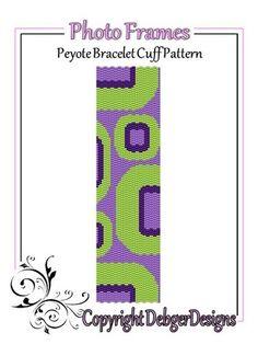 Photo+Frames+-+Beaded+Peyote+Bracelet+Cuff+Pattern