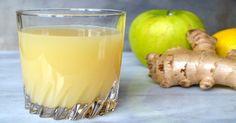 Jugo de jengibre, manzana y limón para limpiar el colon