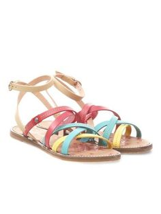 kolorowe sandałki