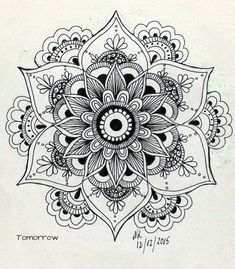 Drawing Of Love Doodles Zentangle Patterns 48 Super Ideas Mandala Art, Mandala Design, Mandalas Painting, Mandalas Drawing, Henna Mandala, Sunflower Mandala Tattoo, Sunflower Stencil, Easy Mandala Drawing, Mandala Doodle