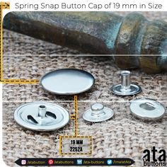 In addition to the spring snap button caps we are currently producing, we have started the production of a new 19 mm in size spring snap button cap.  #Textile #atabuttons #snapbuttons #prongsnapbuttons #accesorries #textileaccessories #Turkey