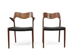 No. 71 & No. 55 Teak Dining Chairs by Niels O. Moller, 1960s, Set of 8 2