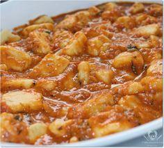 Nhoque de batata com molho de tomate caseiro - O melhor restaurante do mundo é a nossa Casa