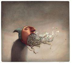 Rébecca Dautremer - Nerfs du temps | Oeuvres | Galerie Robillard