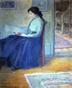 'Lili Reading' by Theodore Earl Butler (early 1900s)