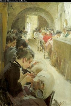 Anders Zorn, Spetsknypplerskor 1894  The Lacemakers