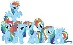 Mane 6 as My Little Rainbow Dash by Shadowhedgiefan91.deviantart.com @deviantART
