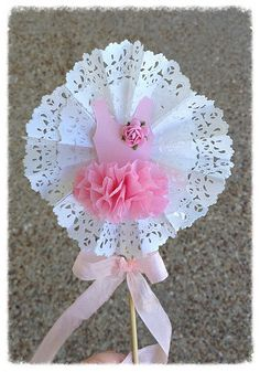 Shabby Chic Decorative Wand Ballet Party Cake Topper for Birthday Party