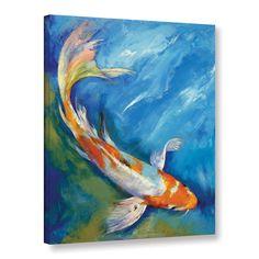 Fish Painting - Yamato Nishiki Koi by Michael Creese Koi Art, Fish Art, Koi Painting, Canvas Art, Canvas Prints, Framed Prints, Big Canvas, Canvas Size, Buy Prints