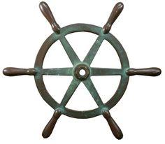 Bronze Yacht Steering Wheel - Aurora Mills Architectural Salvage, $250.00