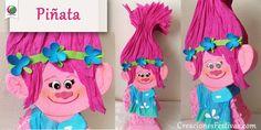 Piñata artesanal  troll www.creacionesfestivas.com