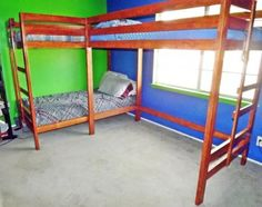 Bunk / Loft Bed Combo | Do It Yourself Home Projects from Ana White