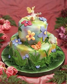 Fairy Garden Cake I made this for a friend who has a passion for