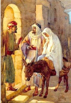 Joseph and Mary. Luke 2:5-6