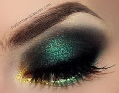 "VIDEO TUTORIAL: ""Dark Dandelions""; Emerald Smokey Eye with Mesmerizing Metallic Waterline #Eyeshadows #EyeMakeupAsian #EyeMakeupCutCrease Eye Makeup Cut Crease, Dark Eye Makeup, Dramatic Eye Makeup, Eye Makeup Steps, Dramatic Eyes, Natural Eye Makeup, Natural Eyes, Smokey Eye Makeup, Eyeliner"