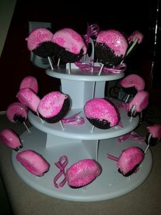 Oreo marshmallow pops for a Baby Shower
