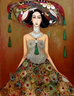 Faiza Maghni - Algeria Arab Women Artists #ArabWomenArtists