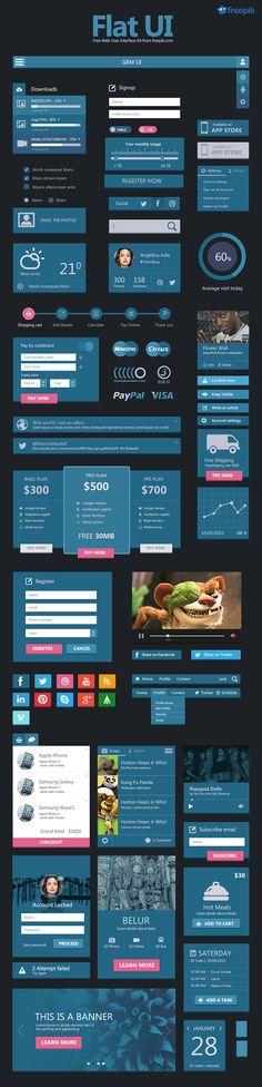 Flat Interface design inkydeals-freepik-flat-ui-preview-620