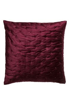 Velvet cushion cover - Burgundy - Home All | H&M GB 1